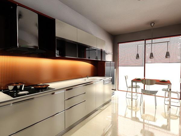 iluminación oculta en la decoración de cocinas