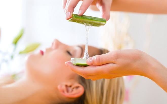 gel de aloe vera o sábila para el cabello maltratado