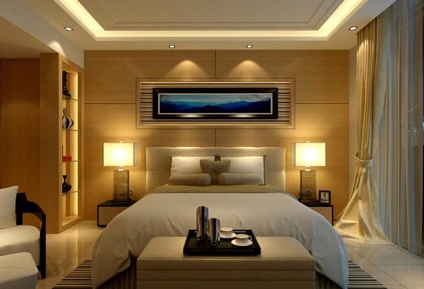 iluminación en paredes de recámara