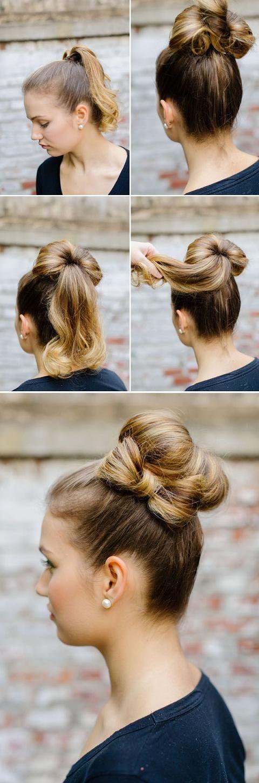 peinados para fiestas sencillos