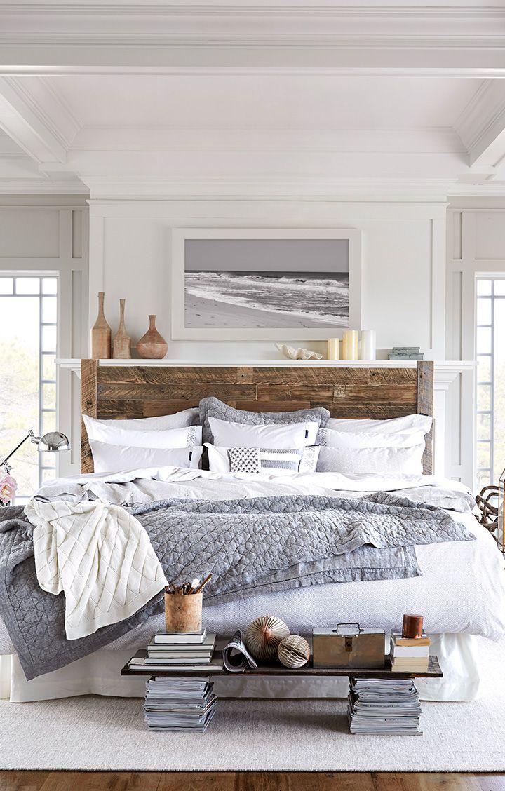 estilos de cama con madera rústica