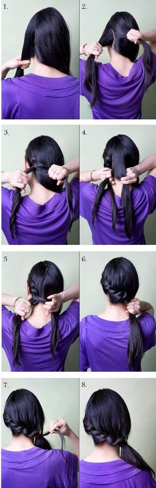 peinados para fiestas trenzado largo
