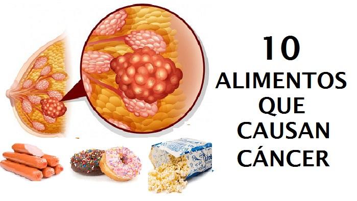 10 principales alimentos que causan cáncer
