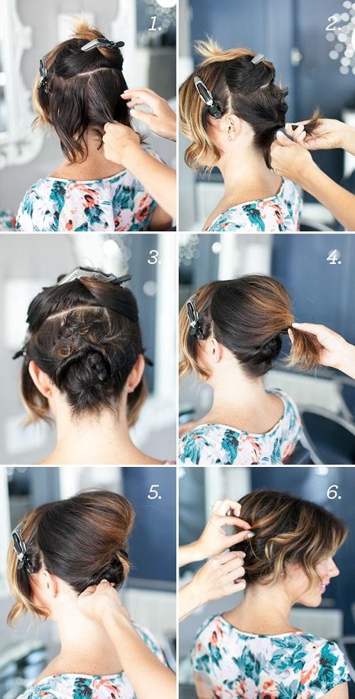 peinados para fiestas en pelo corto