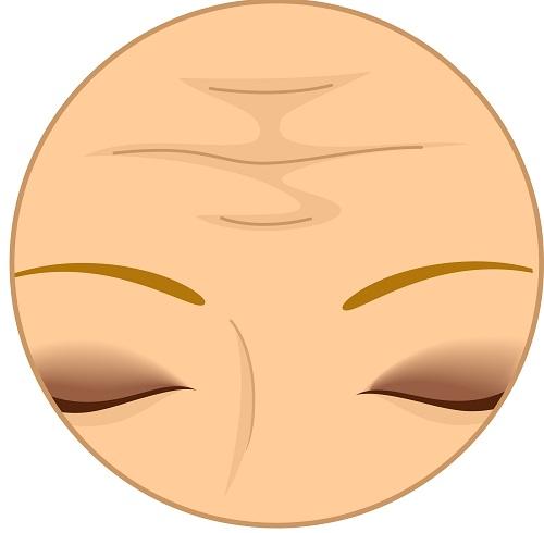 ejercicios para las arrugas en la frente