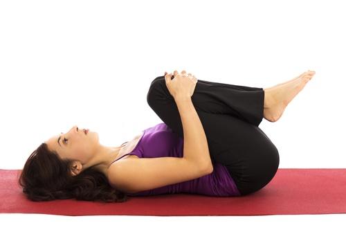 aliviar la inflamación con posturas