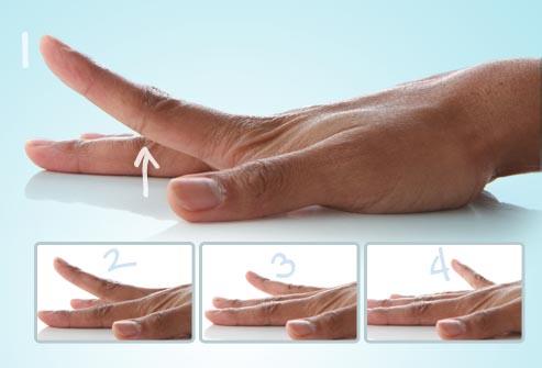 dolor de artritis en las manos levantar dedo