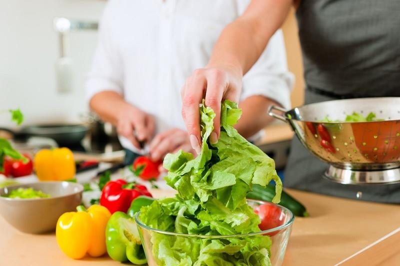 Vegetales ensalada morrones