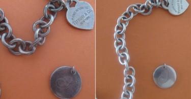 cadena de plata antes y después