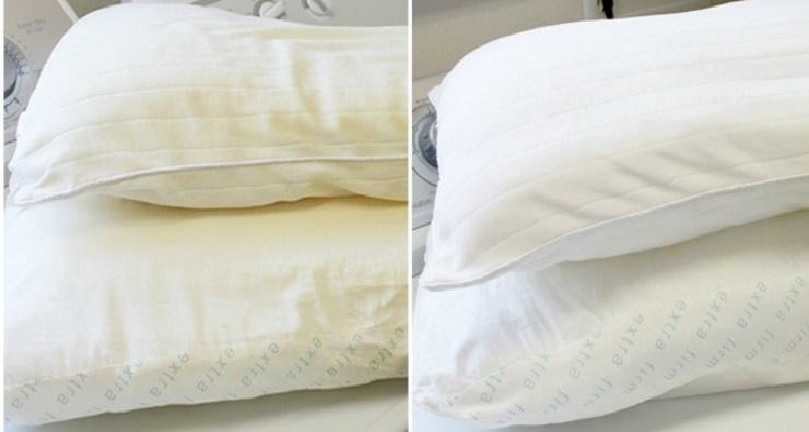 almohadas amarillas