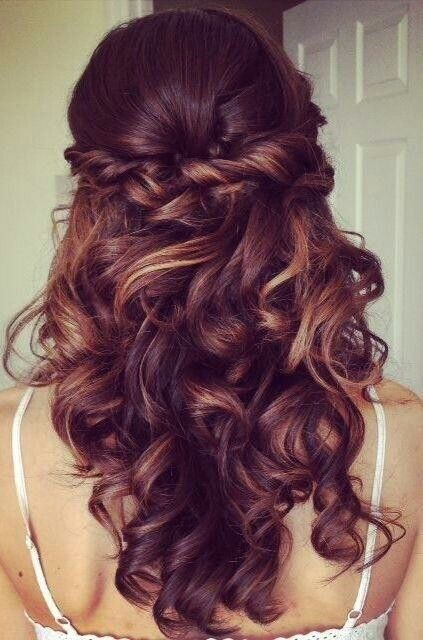 peinados para boda pelo suelto ondulado
