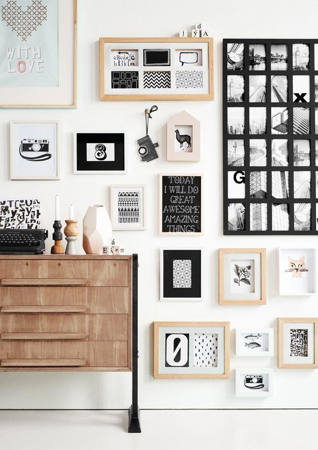 collage de fotografías para la decoración de paredes en el hogar