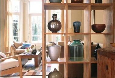 divisor de espacios en madera sólida