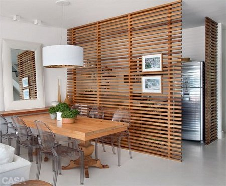 divisores de espacios de madera