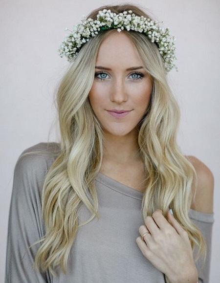 peinados para boda melena con flores