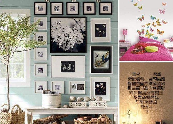 Ideas para decorar paredes y renovar el hogar vida l cida - Como decorar pared con fotos ...