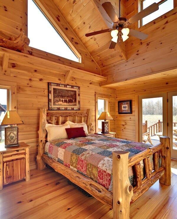 la habitación de la cabaña