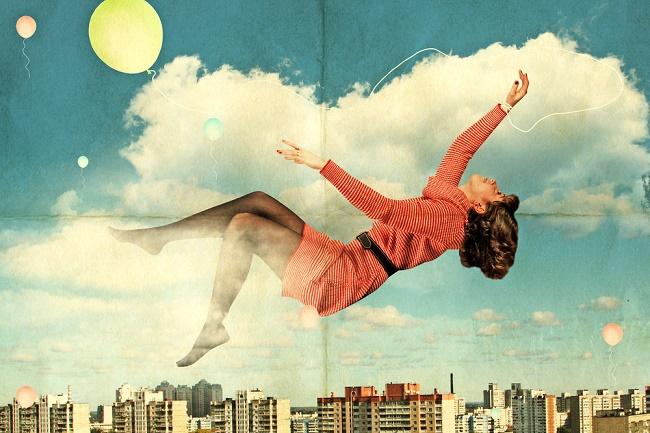 mujer sueños soñando