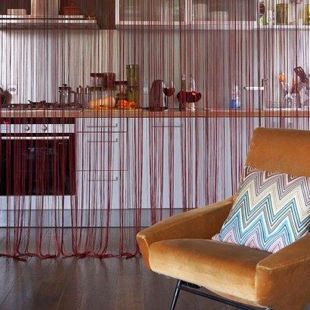 30 ideas de separadores de espacios para la casa - Cortinas separadoras de ambientes ...