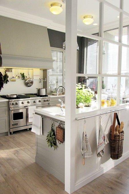 30 ideas de separadores de espacios para la casa - Separar cocina de salon ...