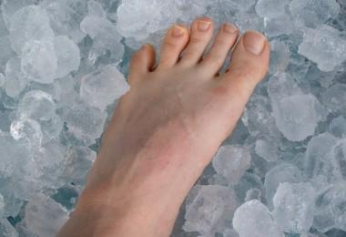 terapias de frío compresas hielo pies
