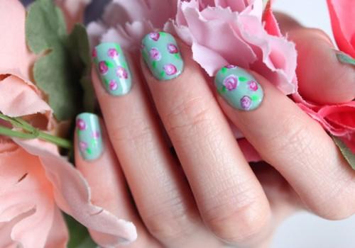 uñas decoradas estilo florales