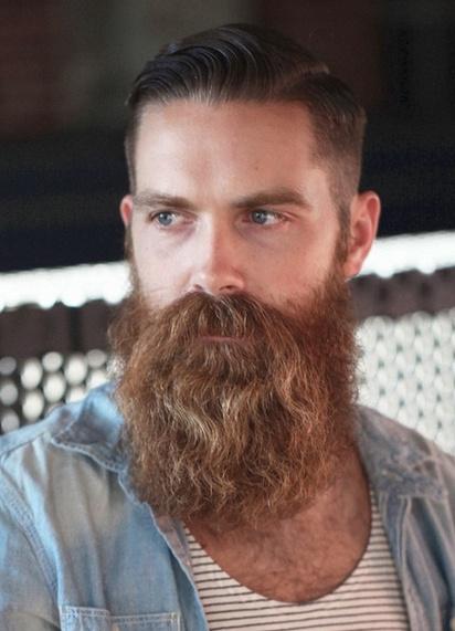Barba con gran longitud