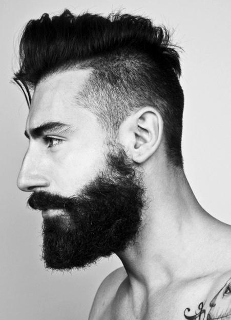 Estilo de barba abundante