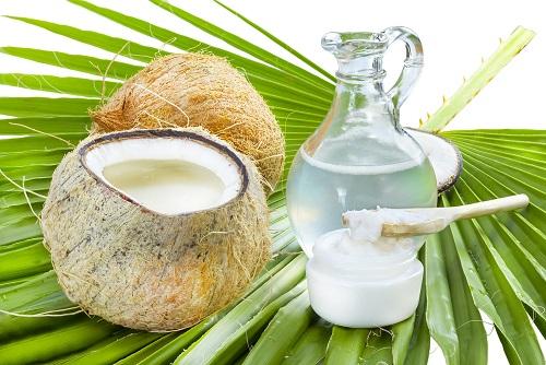 aceite de coco líquido sólido