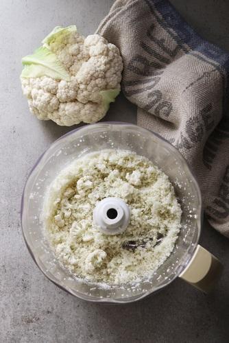 arroz de coliflor procesado