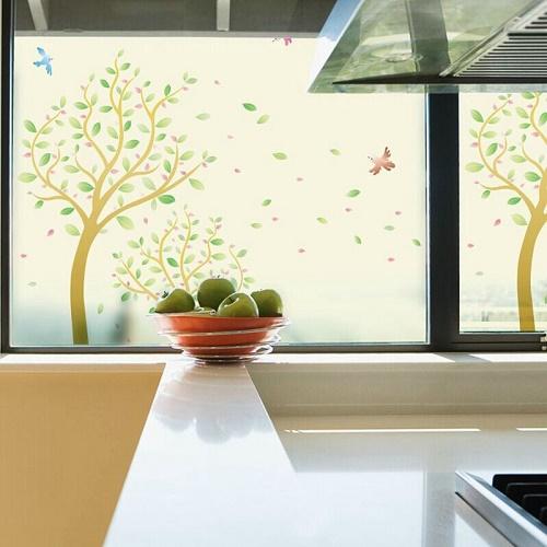 decorar ventanas vidrio esmerilado