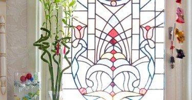 decoración en ventanas vitral