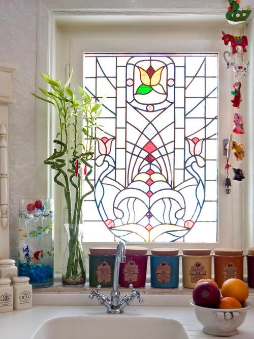 decorar ventanas vitral