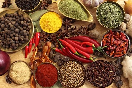 alimentos saludables especias