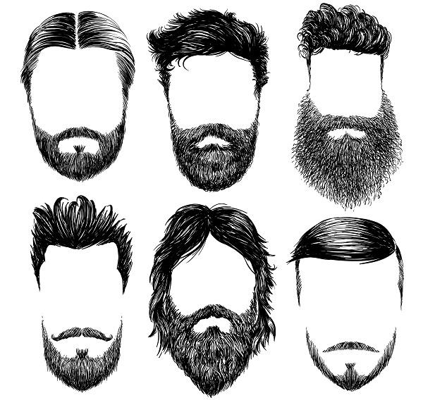 Diferentes estilos de barba hipster