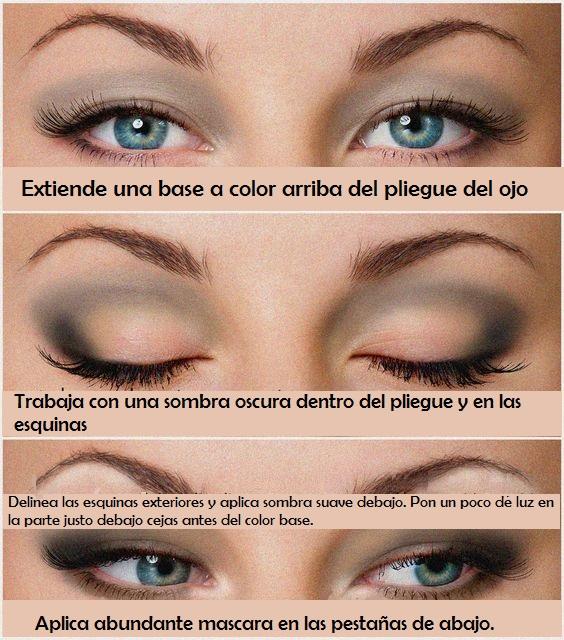 maquillaje para disimular sombras en ojos