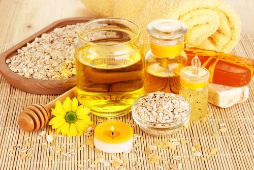 mascarilla con harina de avena y aceite de soja