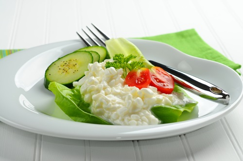 alimentos saludables sin grasa queso cottage