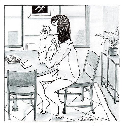 vivir sola fumando en casa