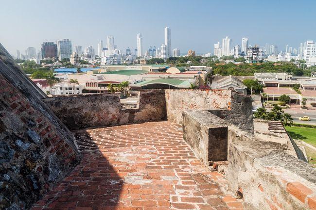 Castillo de San Felipe de Barajas desde arriba