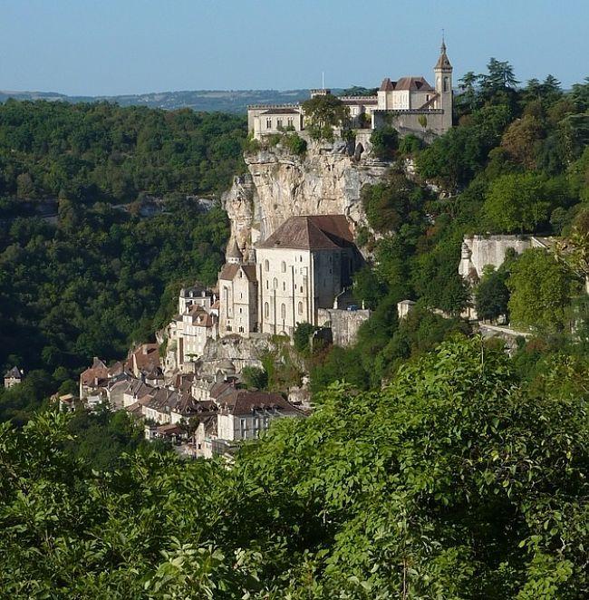 Castillo en Rocamadour, Francia