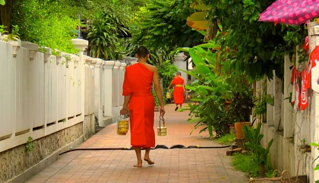 Laos monjes budistas