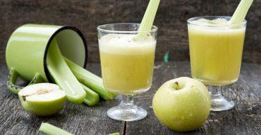 Licuado de manzana y apio para reducir la talla