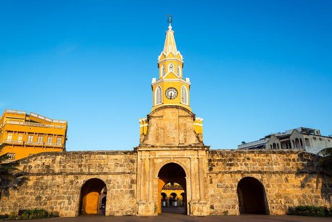 Torre del Reloj en Cartagena de Indias, Colombia
