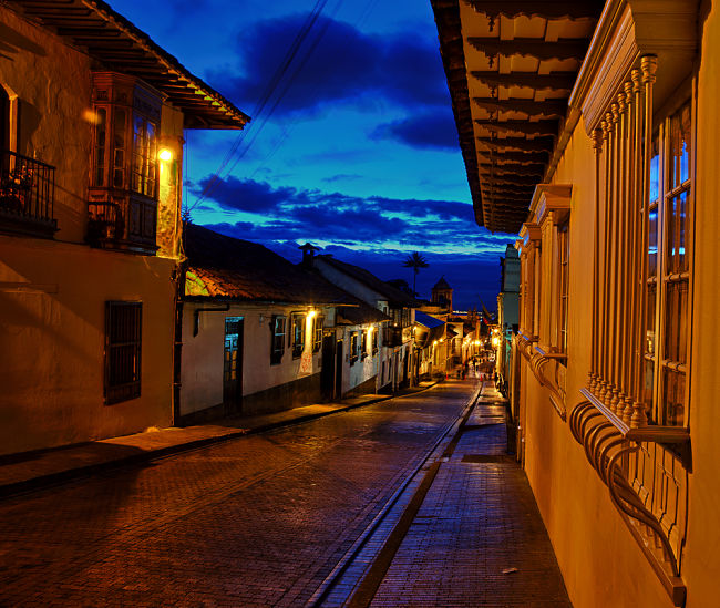 Una calle de Bogotá