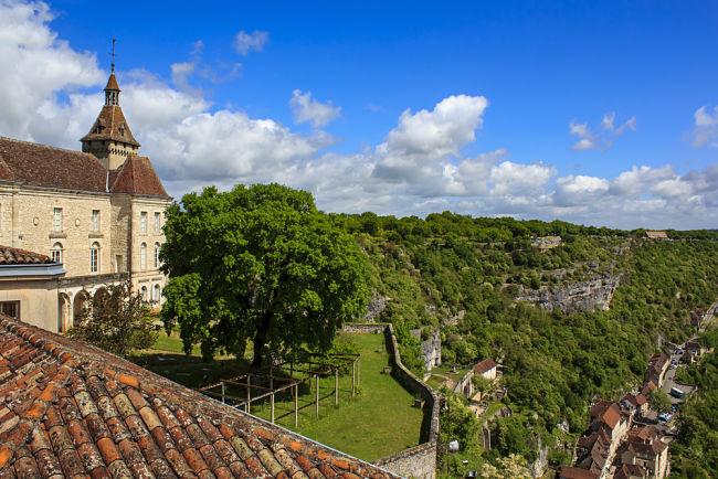 Vista aerea del castillo de Rocamadour