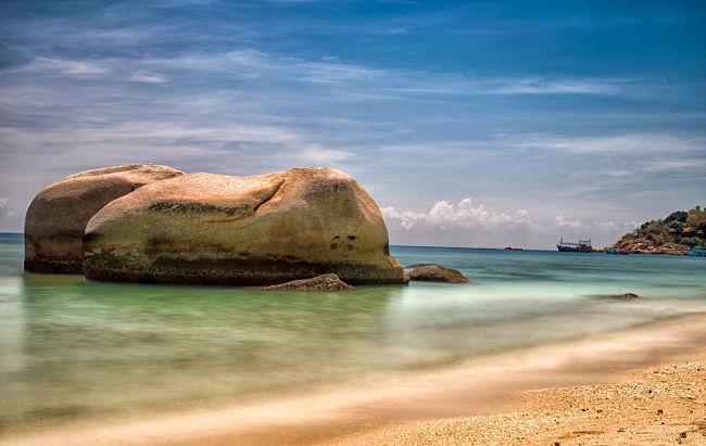 costa de la isla de Koh Tao