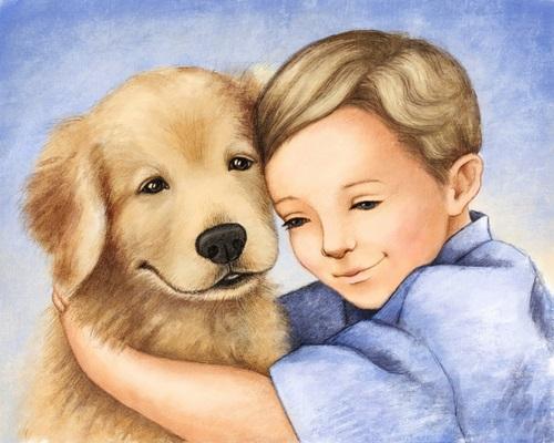 Niño abrazando a su perro aprendiendo a valorar lo que tiene y la importancia del momento
