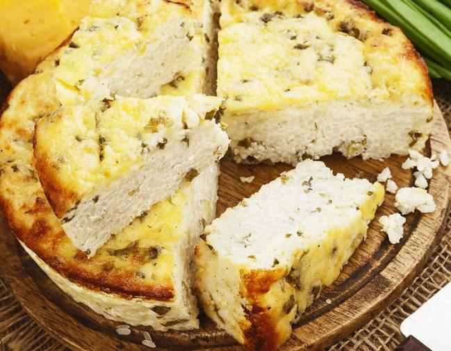 El queso de arroz listo para servir