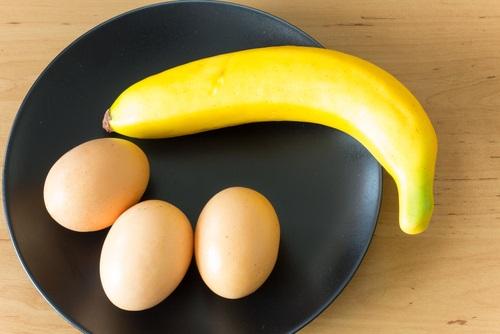 banana y huevo plátano hot cakes sin gluten